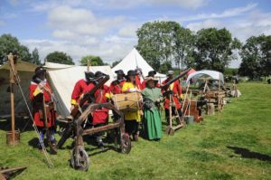 Wimborne Militia Encampment by Chris David